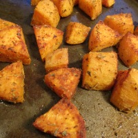 Savory Oven Roasted Sweet Potatoes